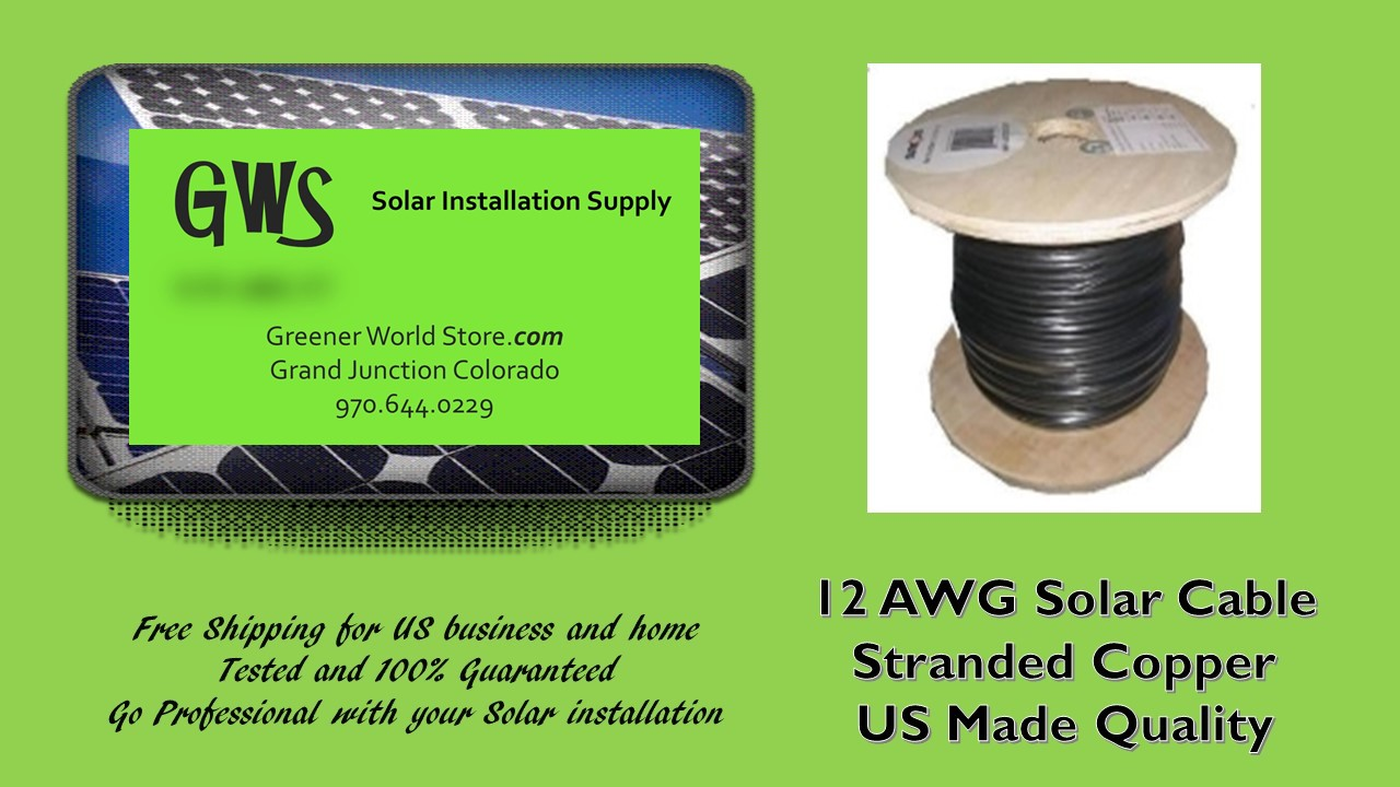 Bulk Solar Cable 150 Feet 12awg Made In Usa Highest Quality Home Wiring Greenerworldstore Supply