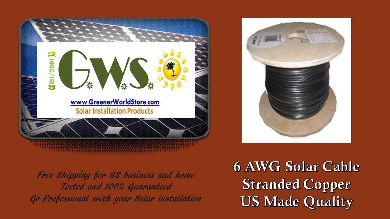 6awg solar cable