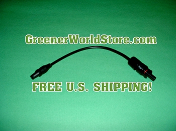 F3 to F4 Adapter Solar Connection Wire - Greener World Store Solar Installation Supplies FREE SHIPPING