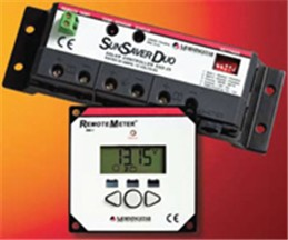 Morningstar, SunSaver DUO Charge Controller, 25A, 12VDC, with Remote Meter, SSD-25RM