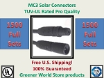 MC3 1500 SETS SOLAR PANEL EXTENSION WIRE MC3 CONNECTOR TUV RATED MC3