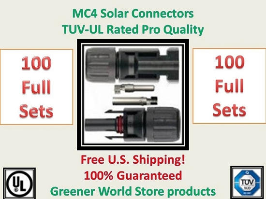100 MC4 SOLAR CONNECTORS BEST PRICE FREE SHIP MC4