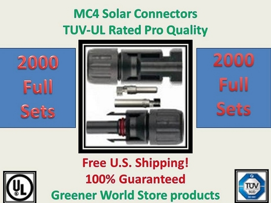 MC4 Solar PV Cable Connector 2000 sets  MC4 Solar Connector - Greener World Store