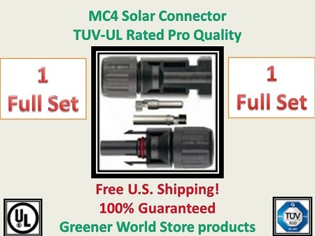 MC4 Solar PV Cable Connector 1 set  MC4 Solar Connector - Greener World Store