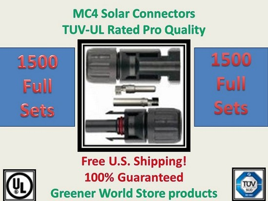 MC4 Solar PV Cable Connector 1500 sets  MC4 Solar Connector - Greener World Store