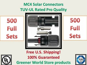 500 MC4 SOLAR CONNECTORS BEST PRICE FREE SHIP MC4