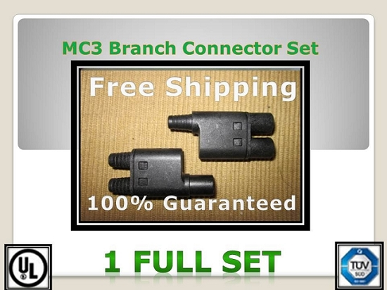 MC3 Solar PV Branch Connector 1 set  MC3 Branch Connector - Greener World Store