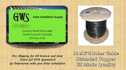 Bulk Solar Cable 100 feet 10AWG Made in USA Solar PV Cable 10awg Greener World Store