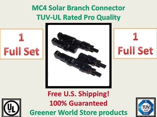 MC4 Solar PV Branch Connector 1 set  MC4 Branch Connector - Greener World Store