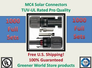 1000 MC4 SOLAR CONNECTORS BEST PRICE FREE SHIP MC4
